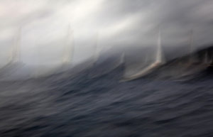 Sailing In Rough Sea