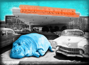 Who Parked A Blue Hippo?