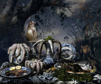 Fish Still Life In Delftware