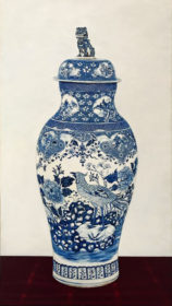 Blue Chinese Vaze